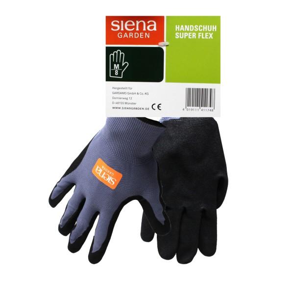 Siena Garden Handschuh Super Flex Gr. 8 Nylon-Micronitrilschaum