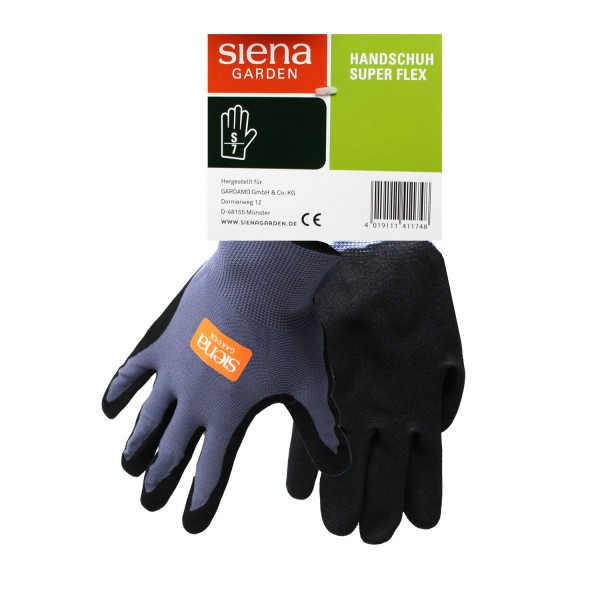 Siena Garden Handschuh Super Flex Gr. 7 Nylon-Micronitrilschaum