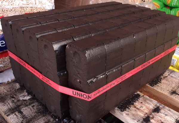 Union Kaminbriketts Kohlebriketts Kohle 25 kg Steinkohle