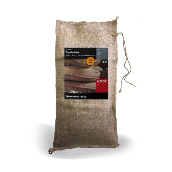 NOOR Jute-Sandsäcke 20 kg 10er Pack