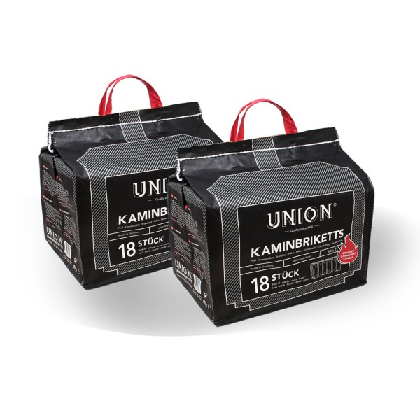 2 x 10 kg Set Union Kaminbriketts Kohle 20 kg
