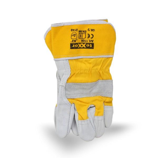 Texxor K2 Arbeitshandschuh Leder Gr. 9 gelb