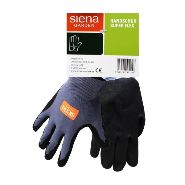 Siena Garden Handschuh Super Flex Gr. 9 Nylon-Micronitrilschaum